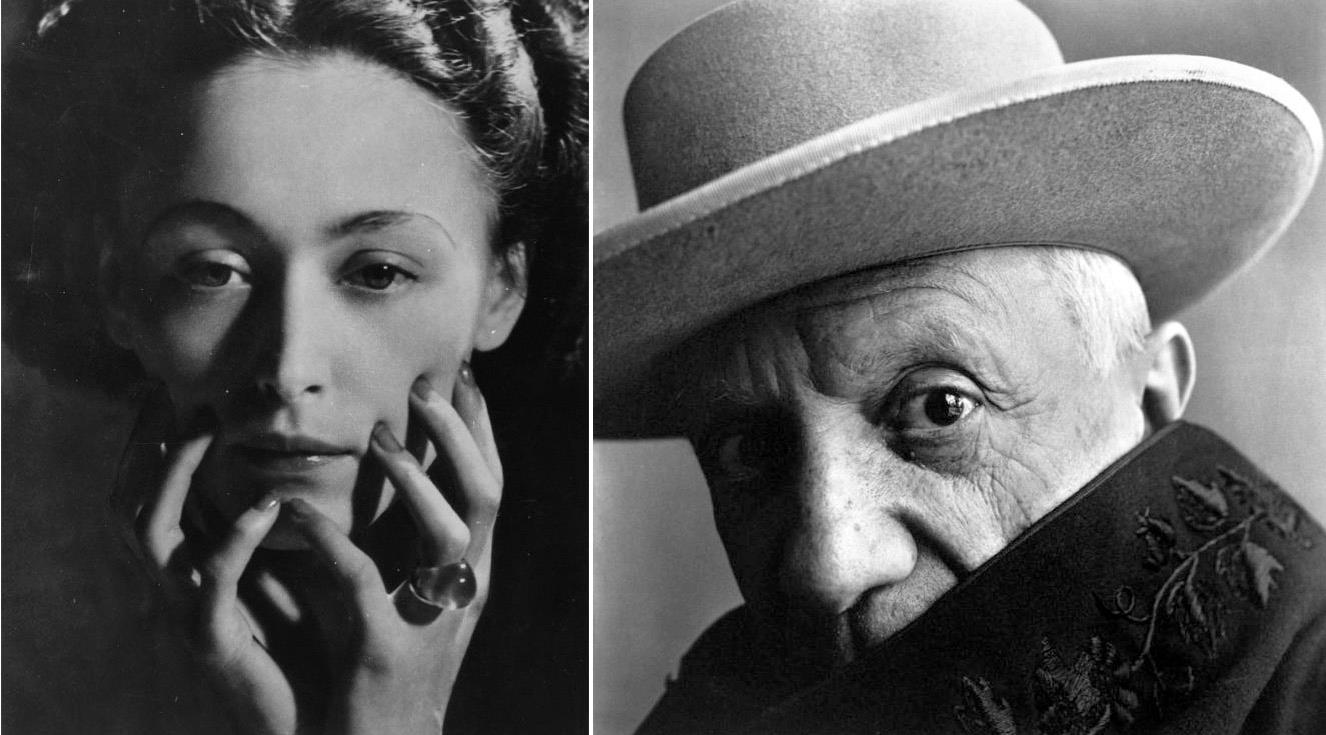 Pablo Picasso and Dora Maar by Irving Penn Cannes 1957